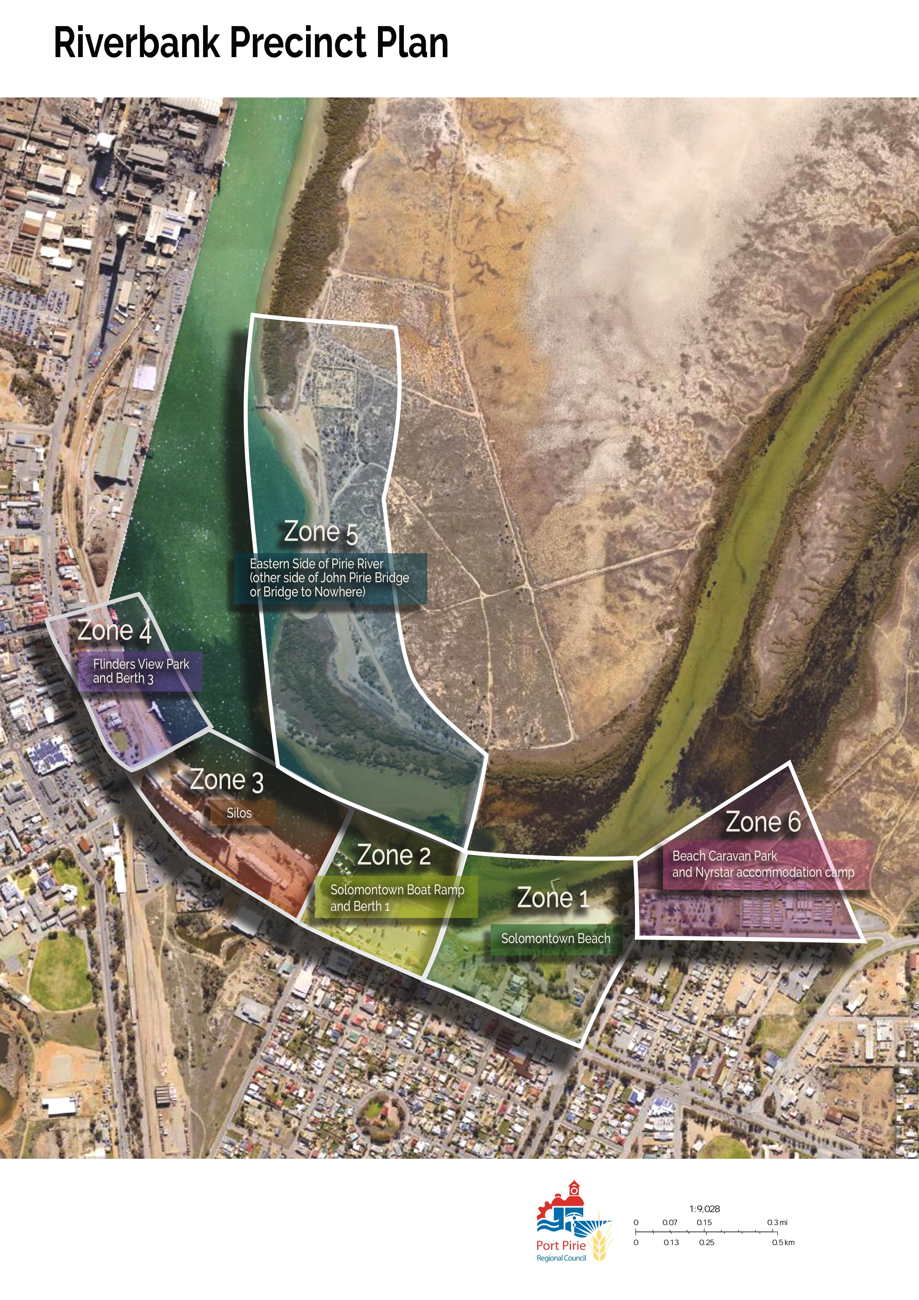Riverbank Precinct Map
