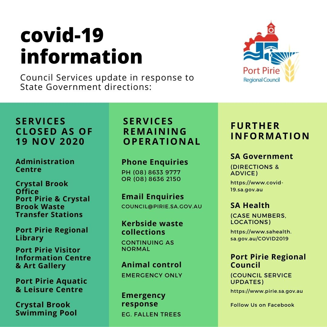 COVID-19 Update 18 Nov 2020